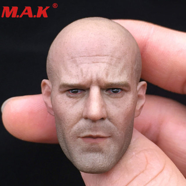 """1/6 Jason Statham head sculpt fast and furious 8 death squads head carving for 12"""" male man figure doll action figure body"""