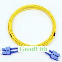 Fiber Patch Cord Jumper Cable SC-SC UPC SC/UPC-SC/UPC SM Duplex GoodFtth 1-15m
