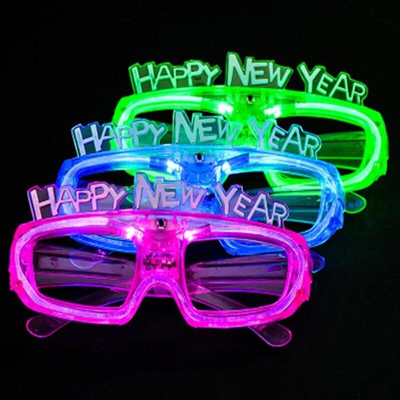 LED Eye Glasses Light- Happy Flashing Blinking Eye Glasses Party Decor Eye Mask Wedding Decoration  Christmas Halloween navidad