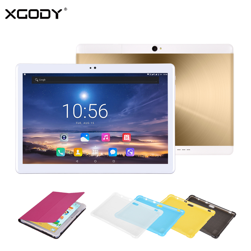 XGODY 3G 10.1 Tablet PC Phablet 10.1 Android 7.0 1GB 16GB 1280*800 5MP Dual Camera Bluetooth WiFi 5000mAh Phone Call Tablets