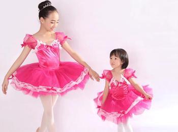 meilleur pas cher 42b3c fafef Costume de danse tutu rouge jazz moderne adulte enfants Ballet danse  ballerine filles robe de ballet justaucorps