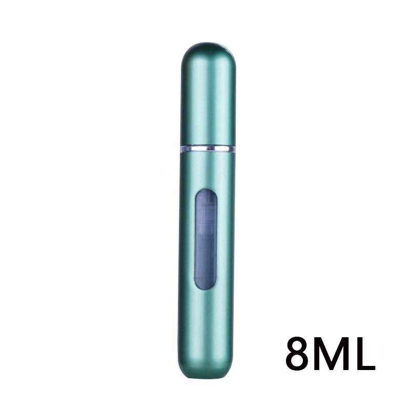 Портативный 5 мл/8 мл Путешествия Мини контейнер алюминий многоразовый спрей для духов бутылка пустые косметические контейнеры флакон духов - Цвет: 8 ml as picture