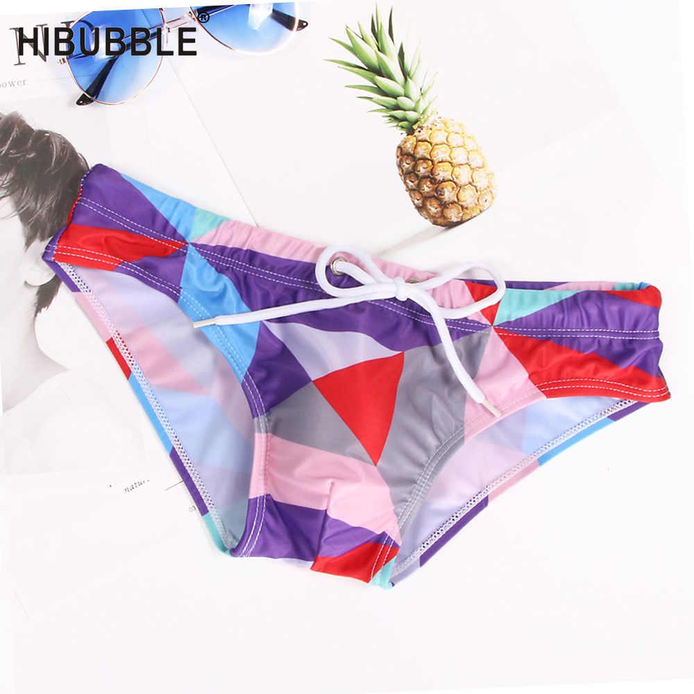 HIBUBBLE Плавание одежда Для мужчин краткое лоскутное пляжные шорты сексуальный