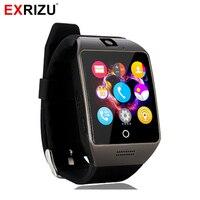 Exrizu q18s Bluetooth Smart часы Поддержка 2 г GSM sim-карты аудио Камера Фитнес трекер SmartWatch для Android IOS мобильный телефон