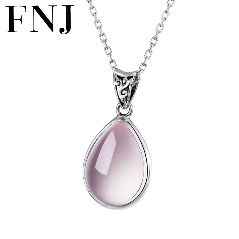 FNJ 925 Silver Pendant Natural Stone 100% Real S925 Solid Original Silver Pendants for Women Jewelry Making
