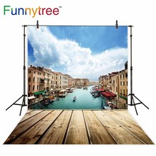 Funnytree backgrounds for photography studio Venice Italy wood lake landscape nature professional backdrop photocall printed