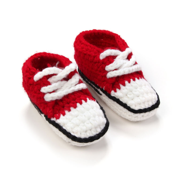 Multicolor-Knitted-Baby-Crib-Shoes-Handmade-Infant-Crochet-Booties-Lace-up-Newborn-Shoes-10cm-5