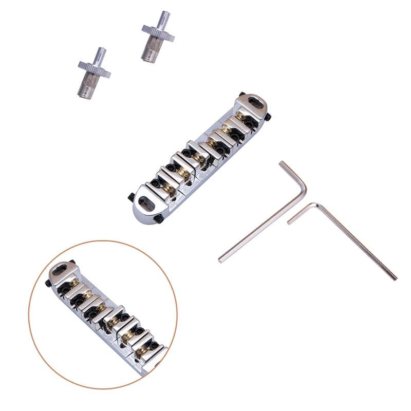 Roller Saddle Locking Tune-O-Matic Chrome Guitar Bridge Fit