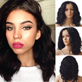 100% Fashion Women Lace Front Wigs Vogue Long Wavy BOB Synthetic Full Wigs Party