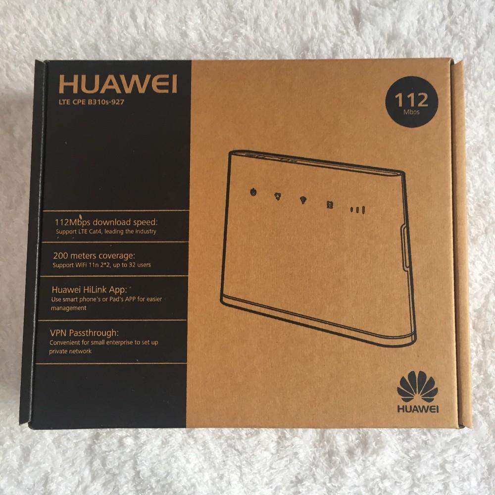 Unlocked HUAWEI B310 B310s 927 4G LTE CPE WiFi Modem Router