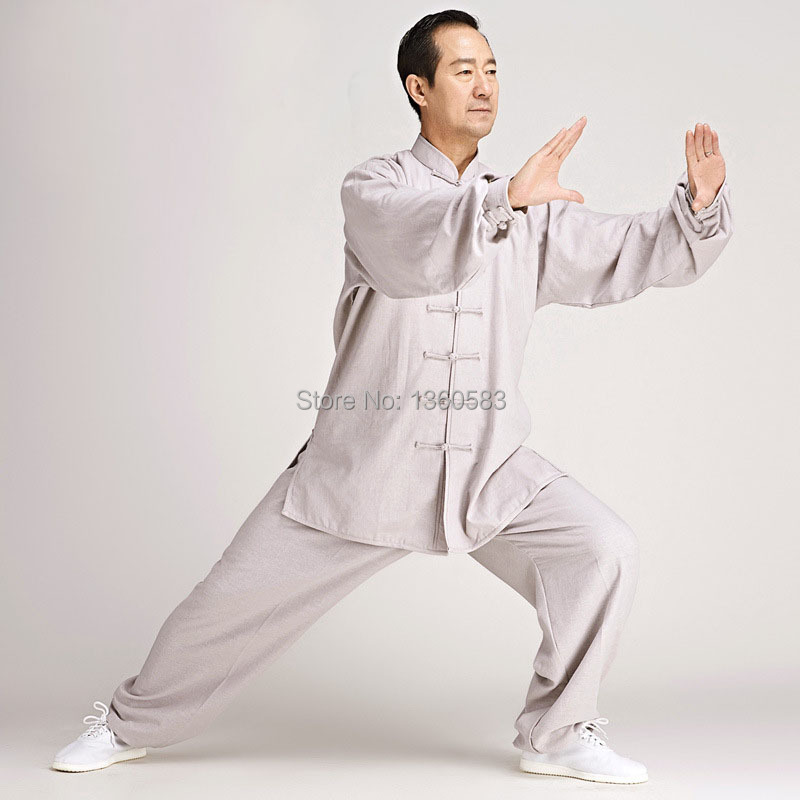 New High Quality Linen Tai Chi Clothing Suit men women Training Performance Kung Fu Uniforms Morning Exercise Set taiji clothes 2016 chinese tang kung fu wing chun uniform tai chi clothing costume cotton breathable fitted clothes a type of bruce lee suit