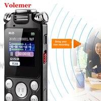 Volemer V59 мини-диктофон быстрой зарядки Двусторонняя Микрофон Звук Запись Цифровой Аудио Голос Регистраторы Mp3 музыкальный плеер