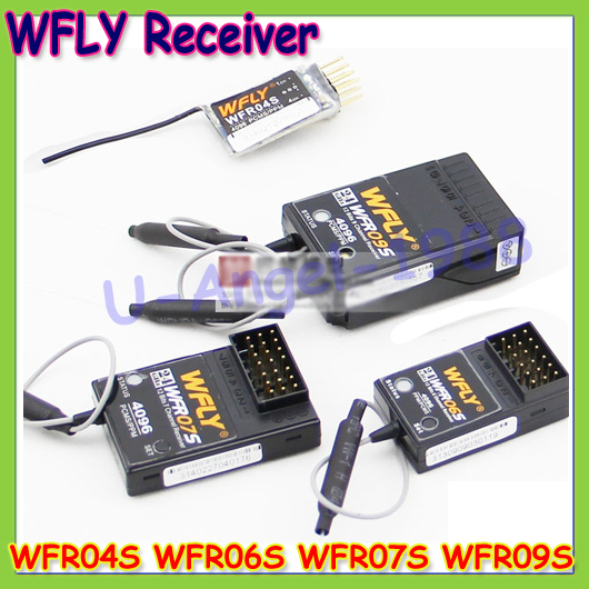 1pcs WFLY 2.4G Receiver WFR04S WFR06S WFR07S WFR09S for 4CH 6CH 7CH 9CH Remote Control for RC Model Wholesale
