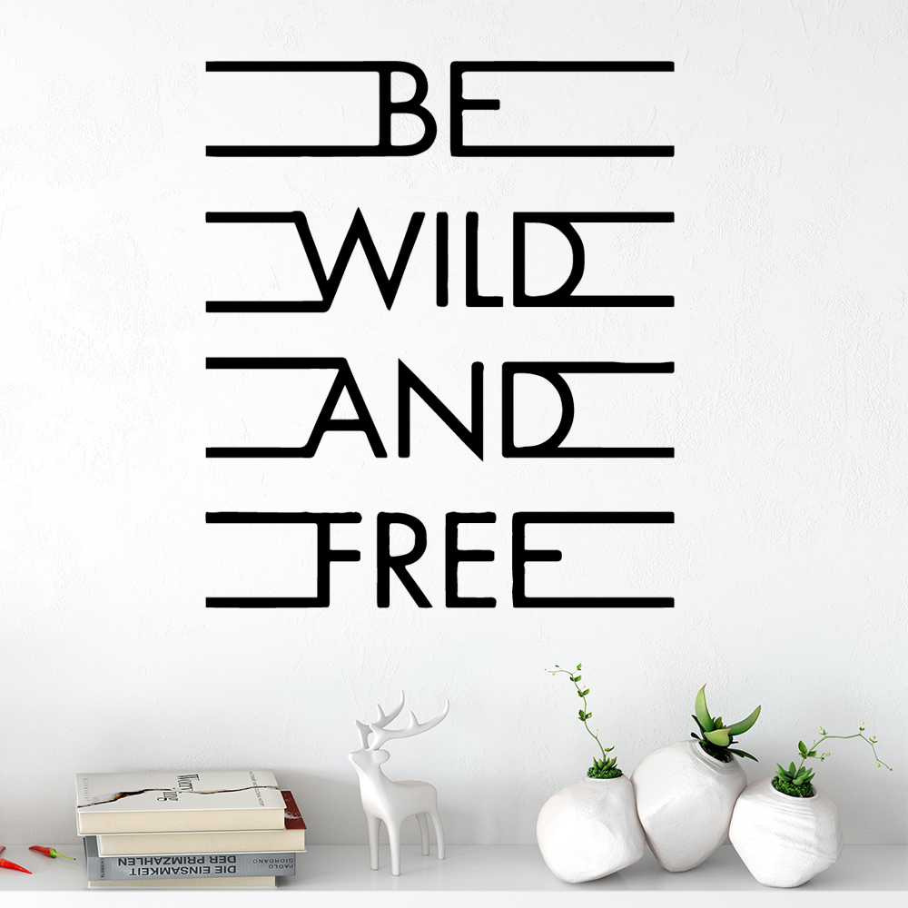NEW English Sentences Wall Stickers Personalized Creative For Kids Rooms Diy Home Decoration Accessories