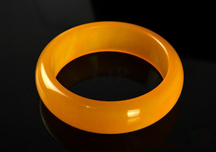 Jewelry & Accessories 58-61mm Inner Diameter Grade A High Quality Natural Yellow Yu Bangles Fine Bracelet Jewelry For Women Gifts/