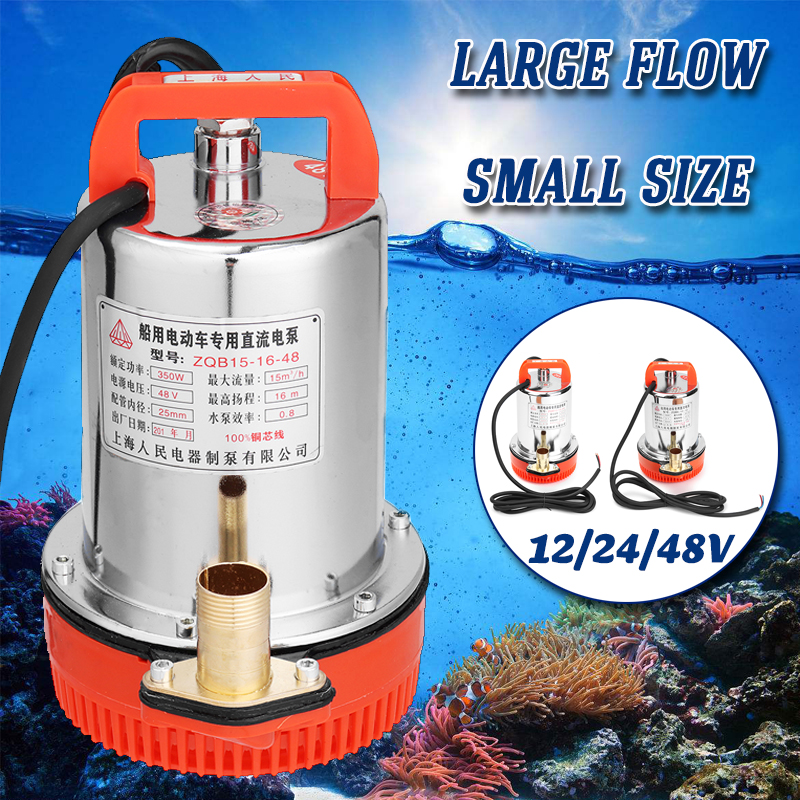 DC 12V 24V 48V Solar Submersible Water Pump Electric High Lift DC Stainless Steel Solar Power Fish Tank Aquarium 150W 220W 350W free shipping dc 380v 11000w big power solar energy water pump stainless steel impeller 6spsc33 187 d380 11000