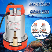 DC 12V 24V 48V Solar Submersible Water Pump Electric High Lift DC Stainless Steel Solar Power Fish Tank Aquarium 150W 220W 350W
