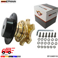 EPMAN Universal  Steering Wheel Snap Off Quick Release Hub Adapter Boss kit  Color:Golden,Black,Titian,Blue,Red EP-CA0011-FS