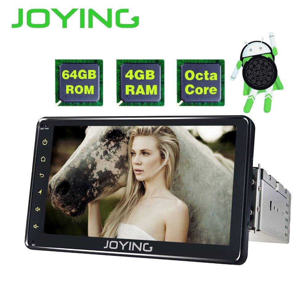JOYING 1 Din Autoradio 7 pouce 4 gb RAM 64 gb ROM Tête Unité Android 8.0 Voiture Radio Stéréo GPS lecteur Soutien carpaly avec sortie Vidéo