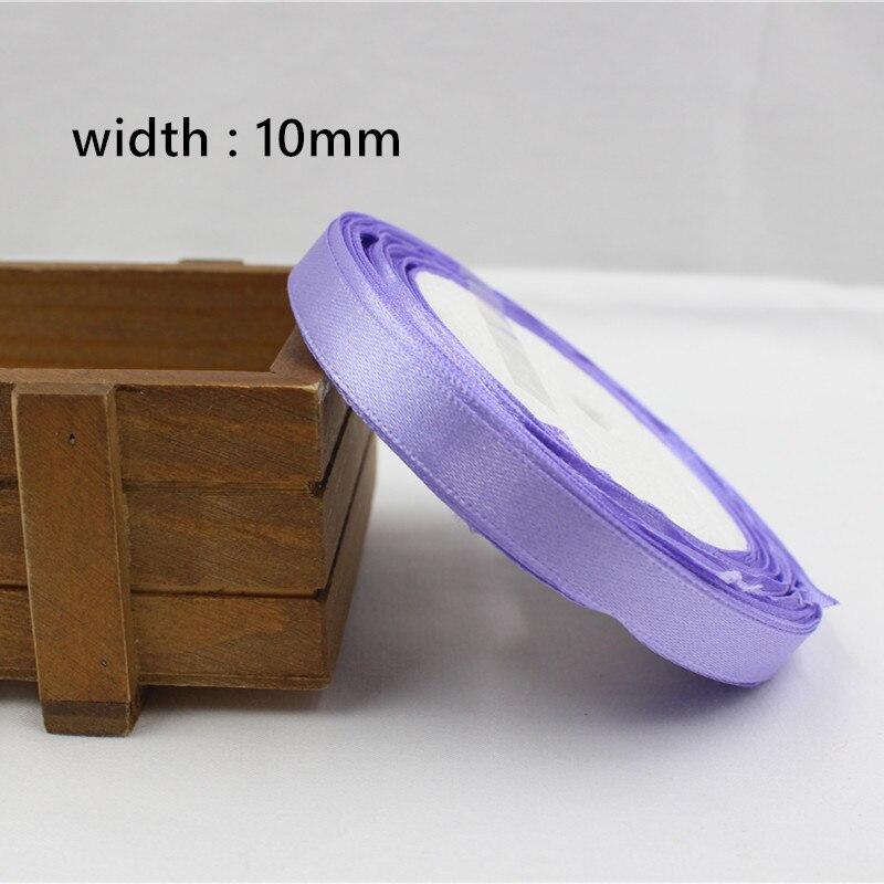 A-166910, 10 мм 31 цвет на выбор 25 ярдов шелковая атласная лента, свадебные декоративные ленты, подарочная упаковка, материалы ручной работы - Цвет: 021