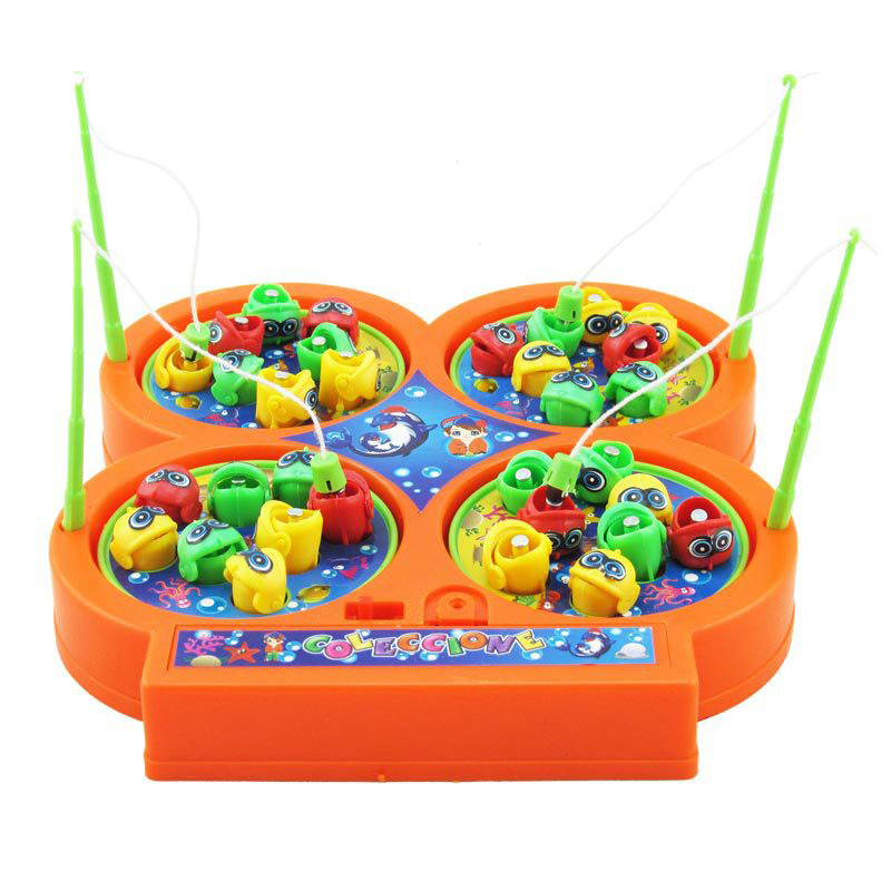 Go Fishing Toy Child Game Electric Rotating Magnetic Magnet Fish Toy Kid Educational Toys For Children
