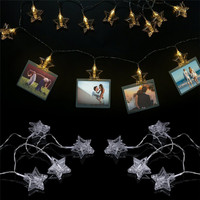 3M 20 Leds Photo Clip String Lights Decorative Battery Powered LED Christmas Lights For Wedding Party