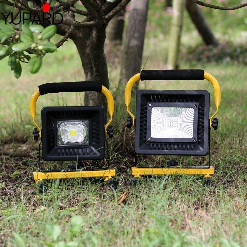 Projecteurs de Camping 50 W projecteur Portable COB lumière de travail Rechargeable lumière extérieure pour la chasse Camping Led lampe de poche latérale