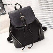 Begutest кожа женские рюкзак корейский Styel женские дизайнерские рюкзак высокое качество школьные рюкзаки для девочек Дорожная сумка