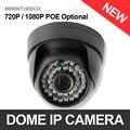 CCTV 720 P 1080 P Купольная Ip-камера Крытый POE Опционально Ночь видение Цвета 1.0MP 2-МЕГАПИКСЕЛЬНОЙ Камеры Безопасности P2P Облако iPhone Android посмотреть