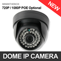 CCTV 720P 1080P Dome IP Camera Indoor POE Optional Night Vision Color 1.0MP 2MP Security Camera P2P Cloud iPhone Android View