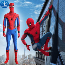 MANLUYUNXIAO Homecoming Spiderman Costume Men Cosplay Tom Holland Customize