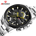 LONGBO Men Sports Watches Stainless Steel Band Military Watches Dynamic Dial Clock For Men Male Leisure Watch Relogio Masculino