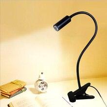 Ücretsiz kargo LED masa lambası, kelepçe okuma lambası, 30/40/50 cm 3 W Esnek led masa lambası, yüksek parlaklık klip spot lamba TD 005