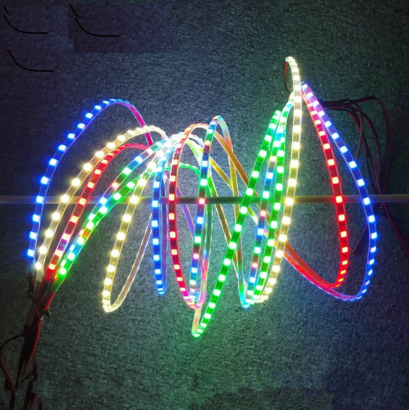 12V LED Strip Colorful Navigate Lights 140CM for SU27 Fix Wing Remote Control KT Airplanes RC Models
