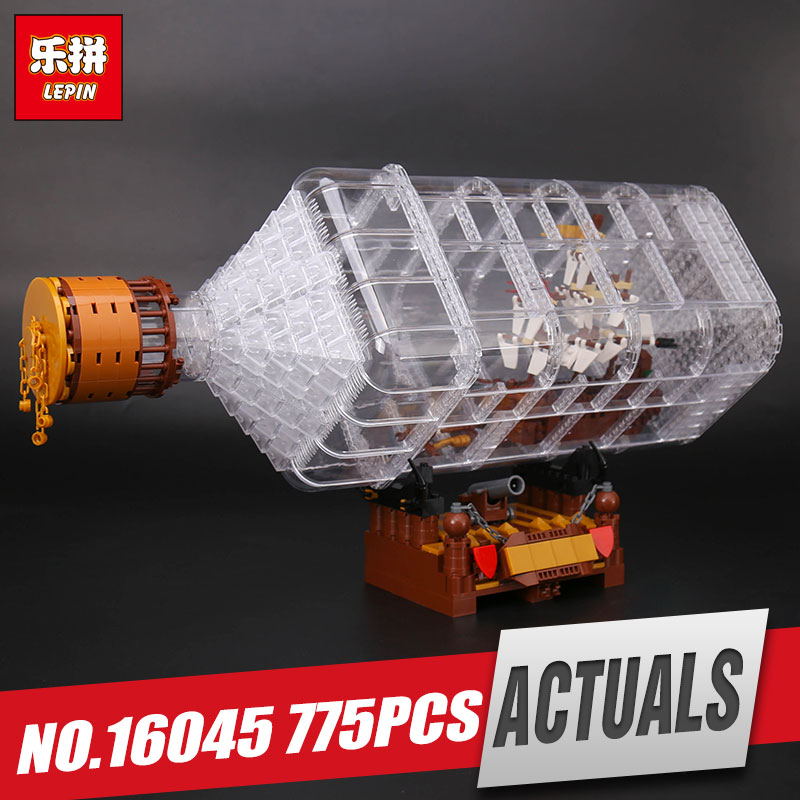 Lepin 16045 Genuine 775pcs Creative Series The Ship in the Bottle Set Building Blocks Bricks Toys Model Gifts lepin 16045 genuine 775pcs creative series the ship in the bottle set building blocks bricks toys model gifts