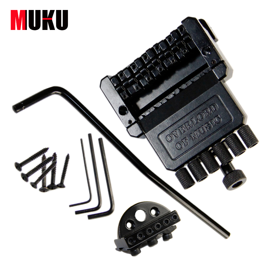Electric Guitar Headless Tremolo Bridge / Black Floyd Rose Guitar Bridge Edge Style Double Tremolo System / Guitar Accessories genuine original floyd rose 5000 series electric guitar tremolo system bridge frt05000 black nickel cosmo without packaging