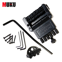 Electric Guitar Headless Tremolo Bridge / Black Floyd Rose Guitar Bridge Edge Style Double Tremolo System / Guitar Accessories