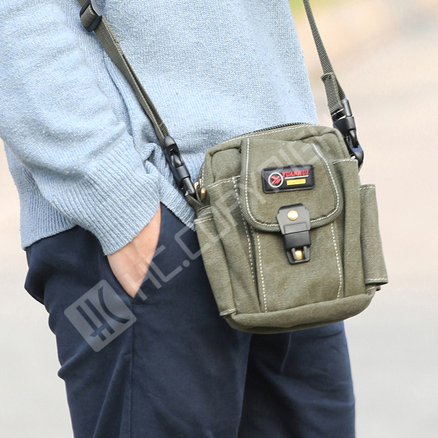 2c7dbe8800 Men Women Hiking Travel Mini Bags Canvas Small Shoulder Messenger Waist  Fanny Pack