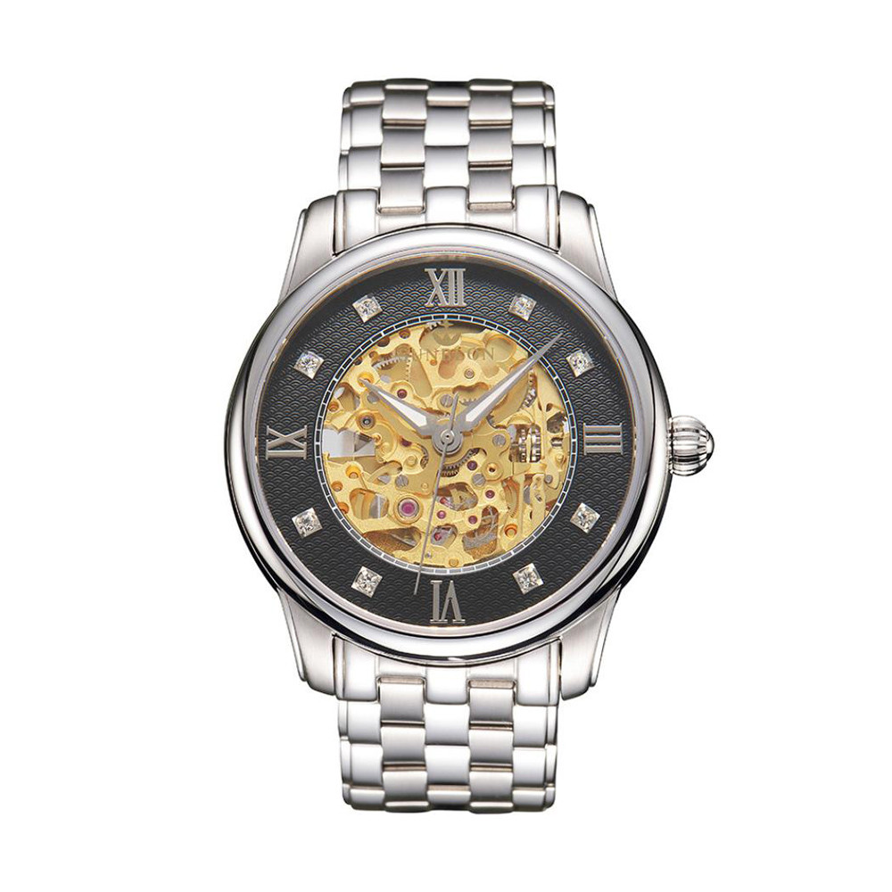 2018 Men's Stainless Steel Mechanical Hollow out all Watch Gold Movement relogio masculino Watche men Gifts horloges mannen F80 aimecor 2018 new men s stainless steel mechanical hollow out all luxury watch gold movement fashion men watch gift clock table