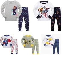 Купить с кэшбэком Children's Spring Autumn tracksuit suit pants+t shirt long sleeve yellow girls pajamas suits Cotton Pijamas Kids Sleepwear