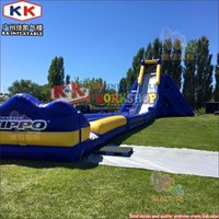 Cheap Inflatable Water Slide With Pool , Fun Park Equipment Used Water Slide For Home Use