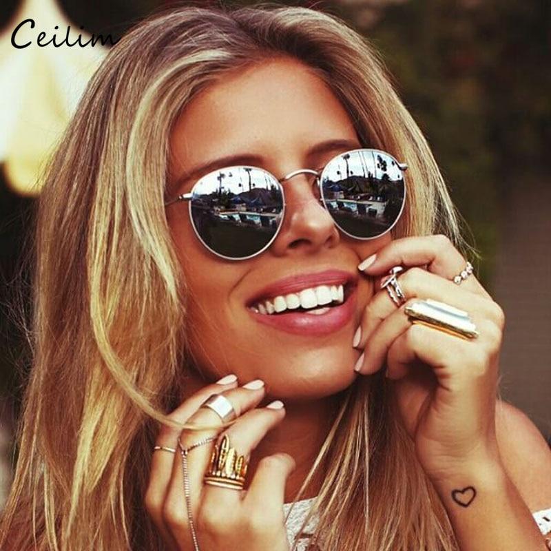 Small Round Sunglasses Women 2019 Superstar Cool Mirror
