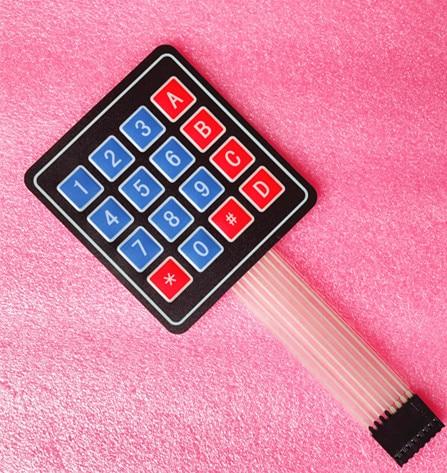 100PCS LOT 4 4 Matrix Array Matrix Keyboard 16 Key Membrane Switch Keypad for arduino 4X4