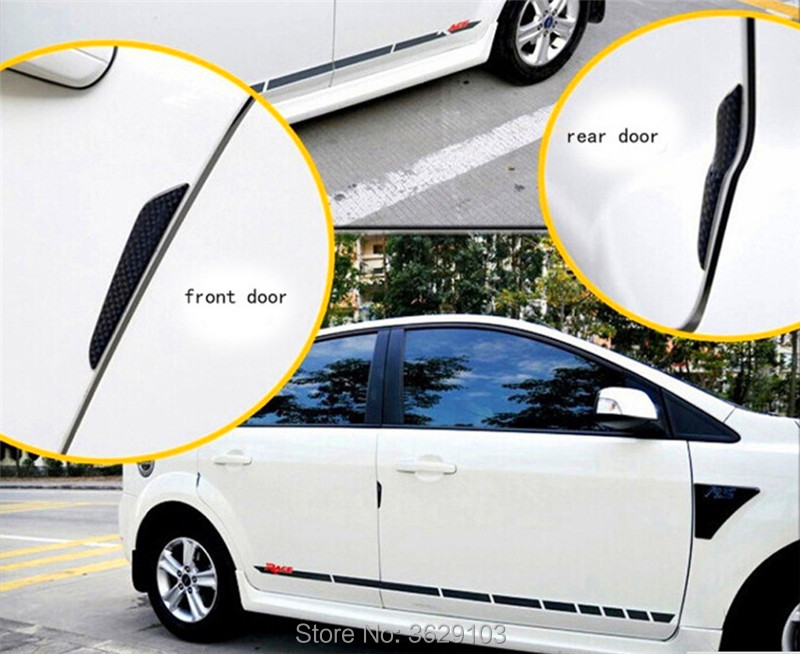 4PCS Car door protection carbon fiber scratch rubber stickers car-styling for <font><b>Honda</b></font> fit accord <font><b>crv</b></font> civic 2006-2012 jazz city hrv image