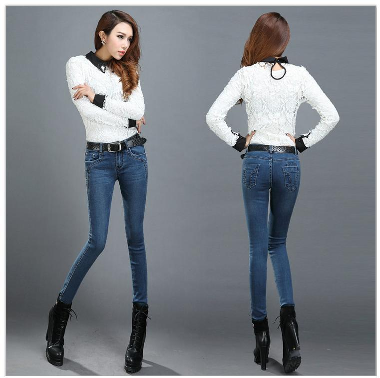 2014 Spring Autumn Fashion Women's Skinny Pencil Jeans Butt ...