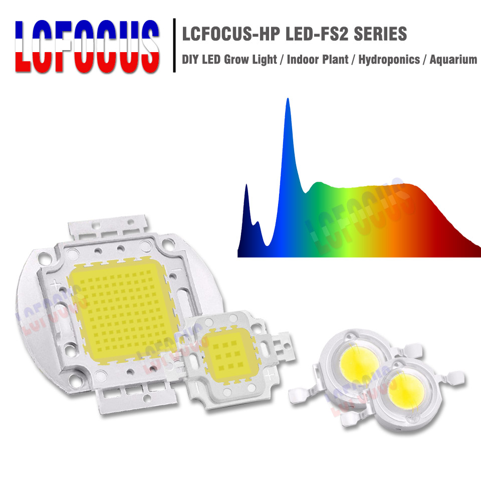 1W 3W 5W 10W 20W 30W 50W 100W Grow LED Chip COB Full Spectrum 380-840nm DIY LED Grow Light para cultivo de plantas de interior