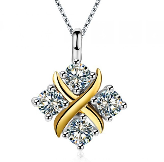 New arrival nice pendant 04ct 4 stones synthetic diamonds new arrival nice pendant 04ct 4 stones synthetic diamonds engagement jewelry pendant necklace for women mozeypictures Image collections