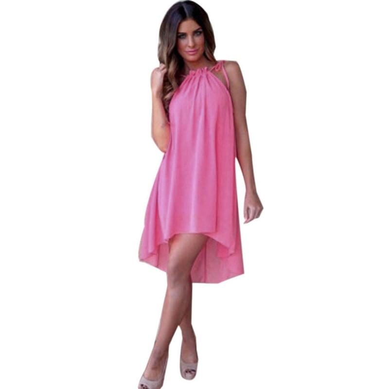 snowshine YLI Women Summer Sleeveless Boho Evening Party Dresses Beach Chiffon Dress Sundress free shipping