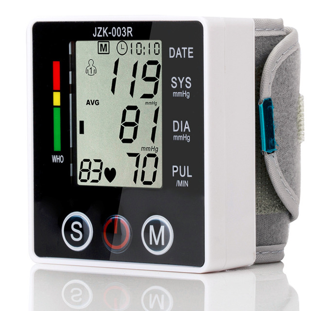 New Health Care Automatic Wrist Blood Pressure Monitor Digital Sphgmomanometer LCD Screen Drop Shipping