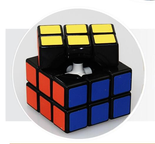 LeadingStar 3rd order Magic Speed Cube Puzzle Black 3-layers professional cube cubo magico educational toys for children zk25